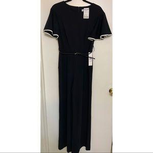 Calvin Klein black belted Jumpsuit with pockets
